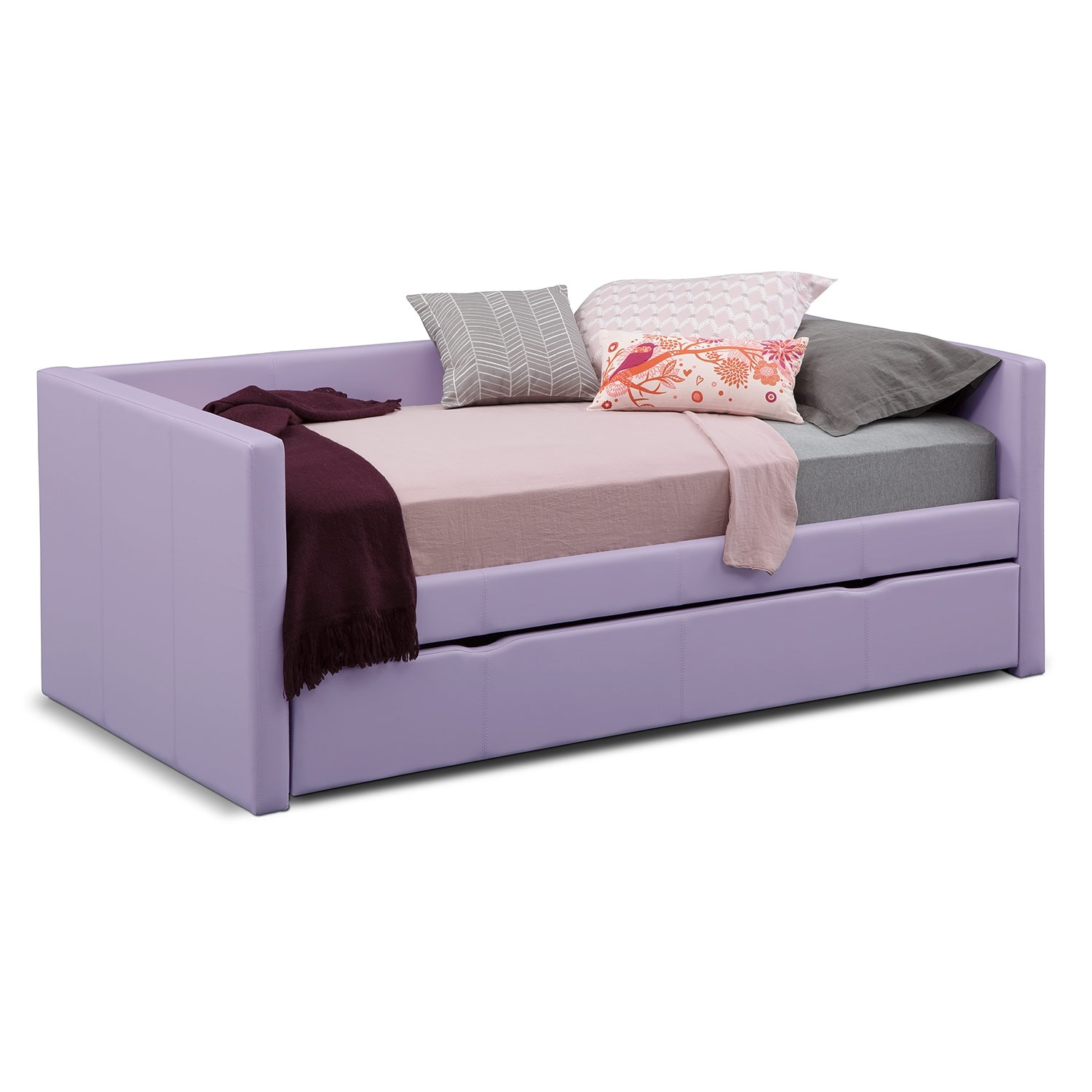 Carey Pink Full Daybed With Trundle Value City Furniture