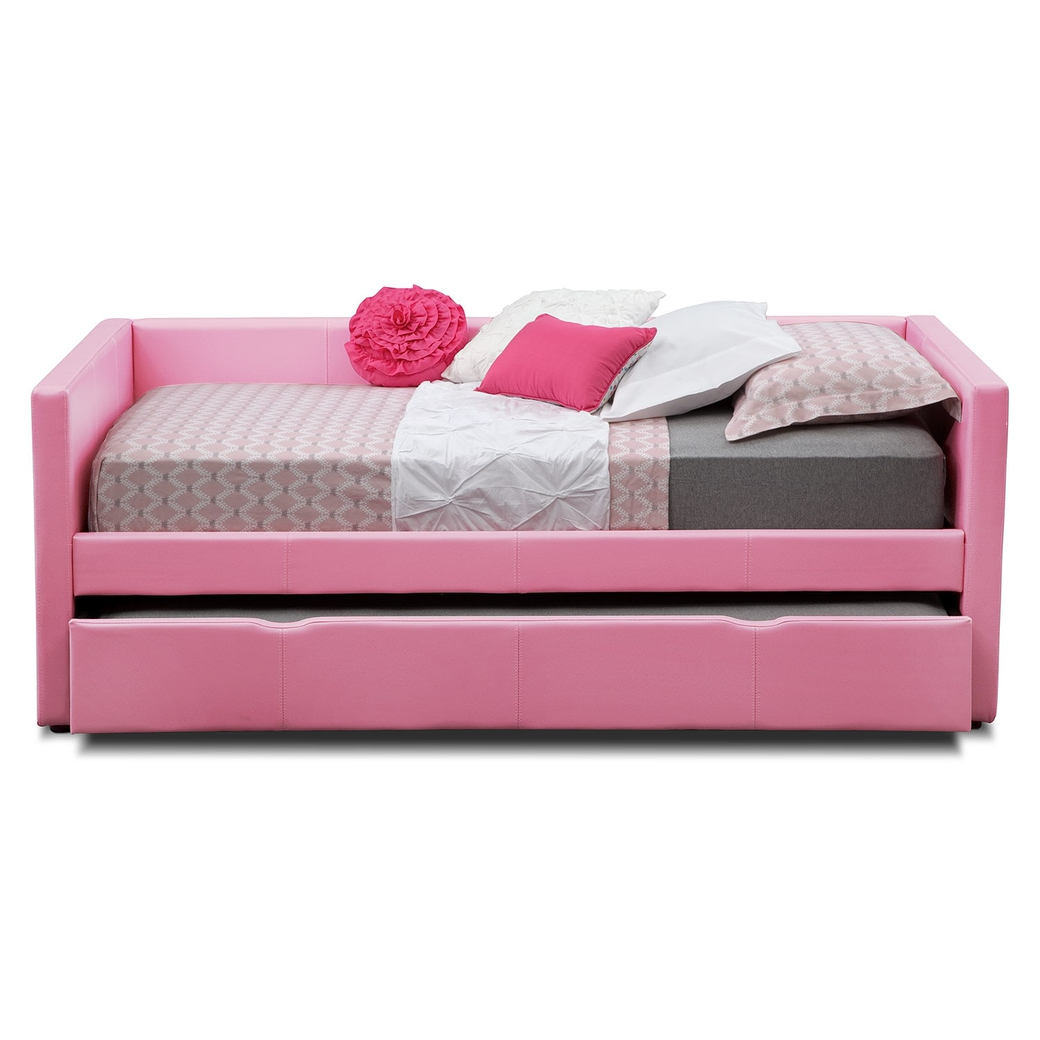 Carey Full Daybed With Trundle Pink American Signature Furniture