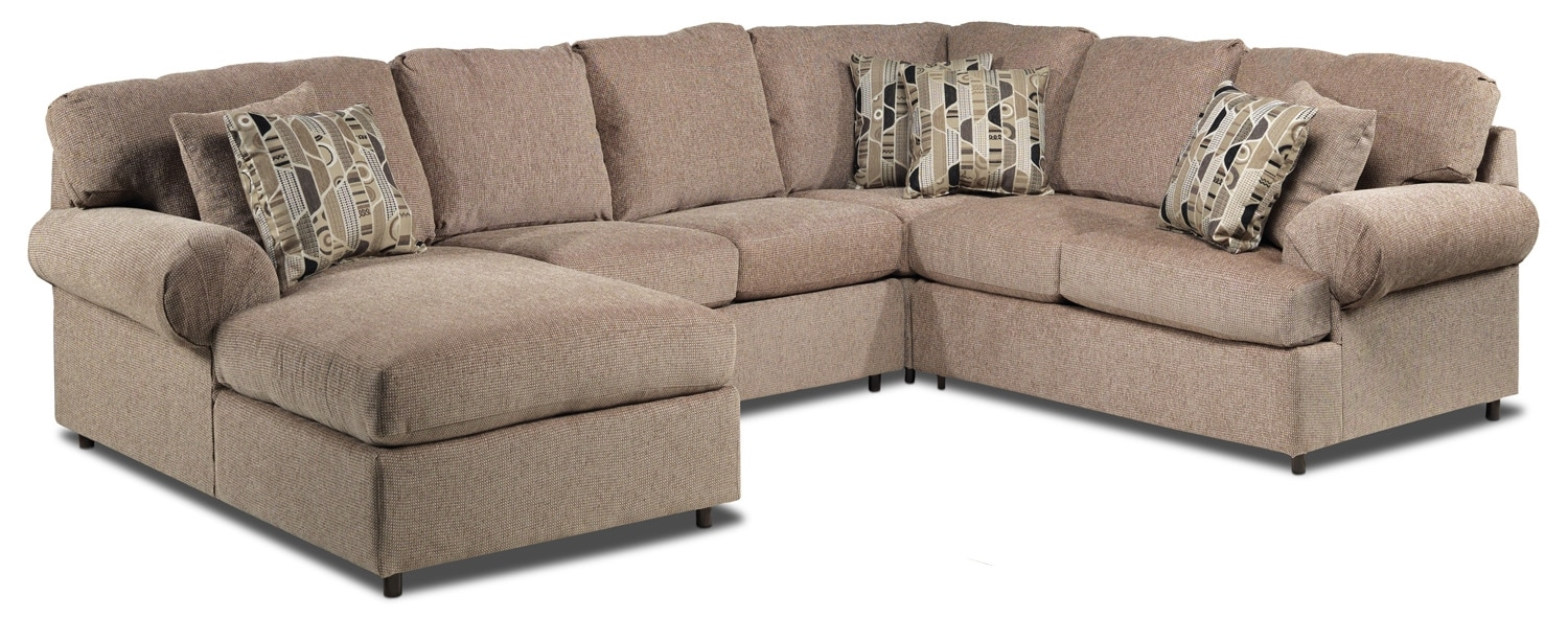 Living Room Furniture - Trudy 4-Piece Sectional - Light Brown
