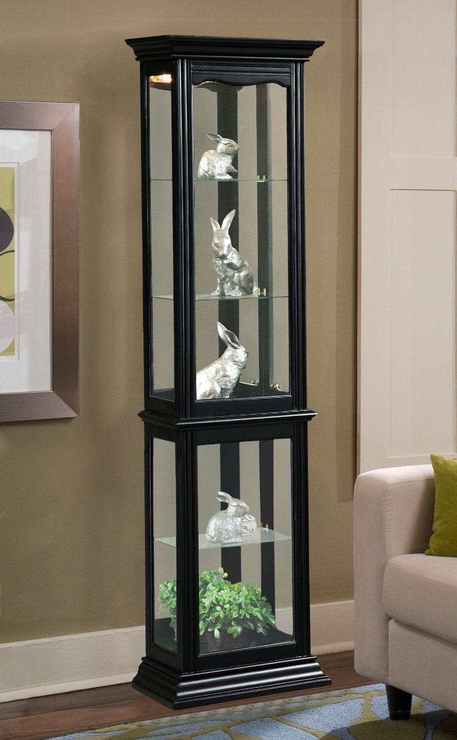 Accent and Occasional Furniture - Iona Curio - Black