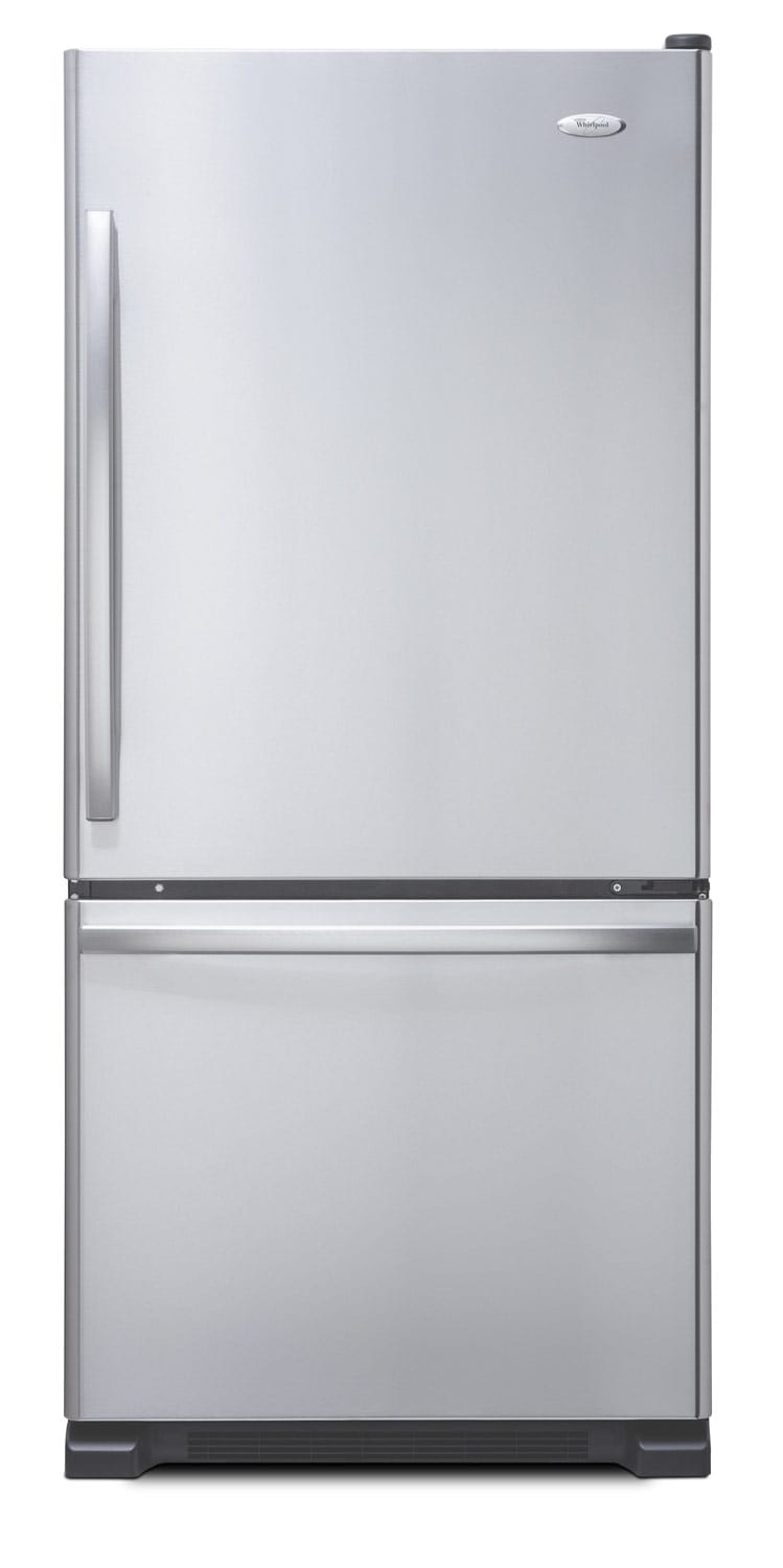 Refrigerators and Freezers - Whirlpool Stainless Steel Bottom-Freezer Refrigerator (19 Cu. Ft.) - WRB329RFBM