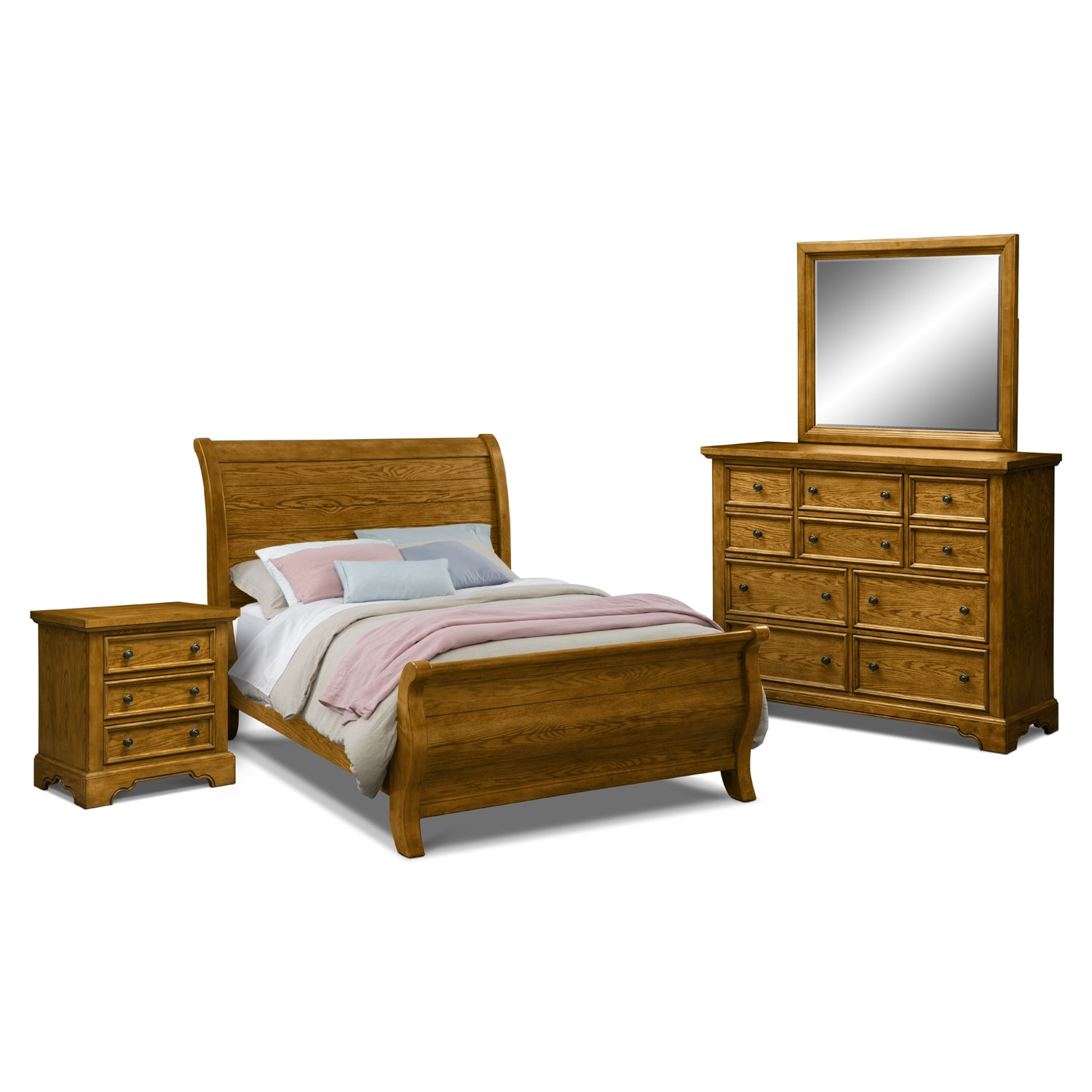 american signature furniture carlyle oak bedroom 6 pc king bedroom