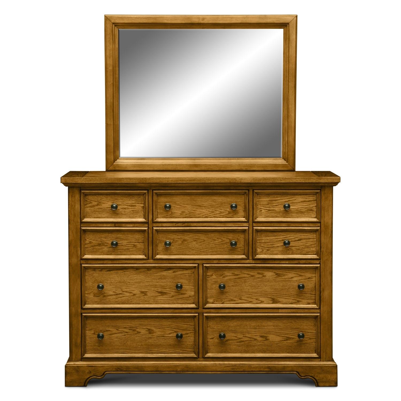 bedroom furniture carlyle oak dresser mirror