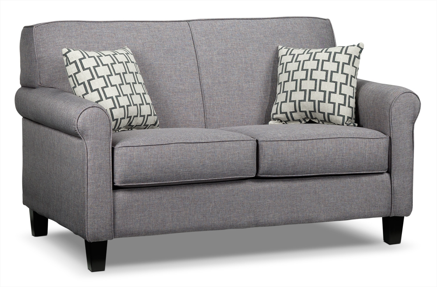 Living Room Furniture - Ariel Loveseat - Silver-Grey