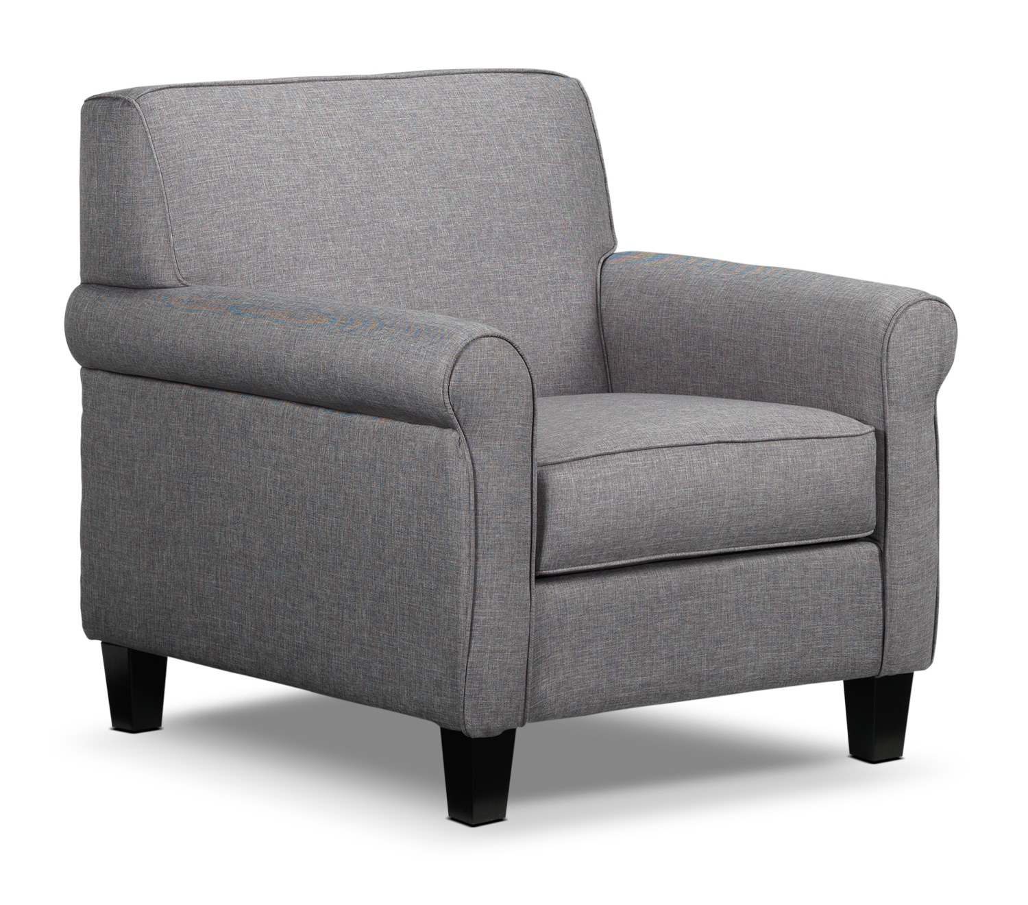 Living Room Furniture - Ariel Chair - Silver-Grey
