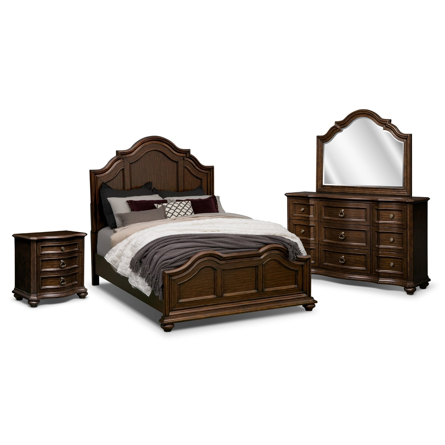american signature furniture ashworth bedroom 6 pc queen bedroom