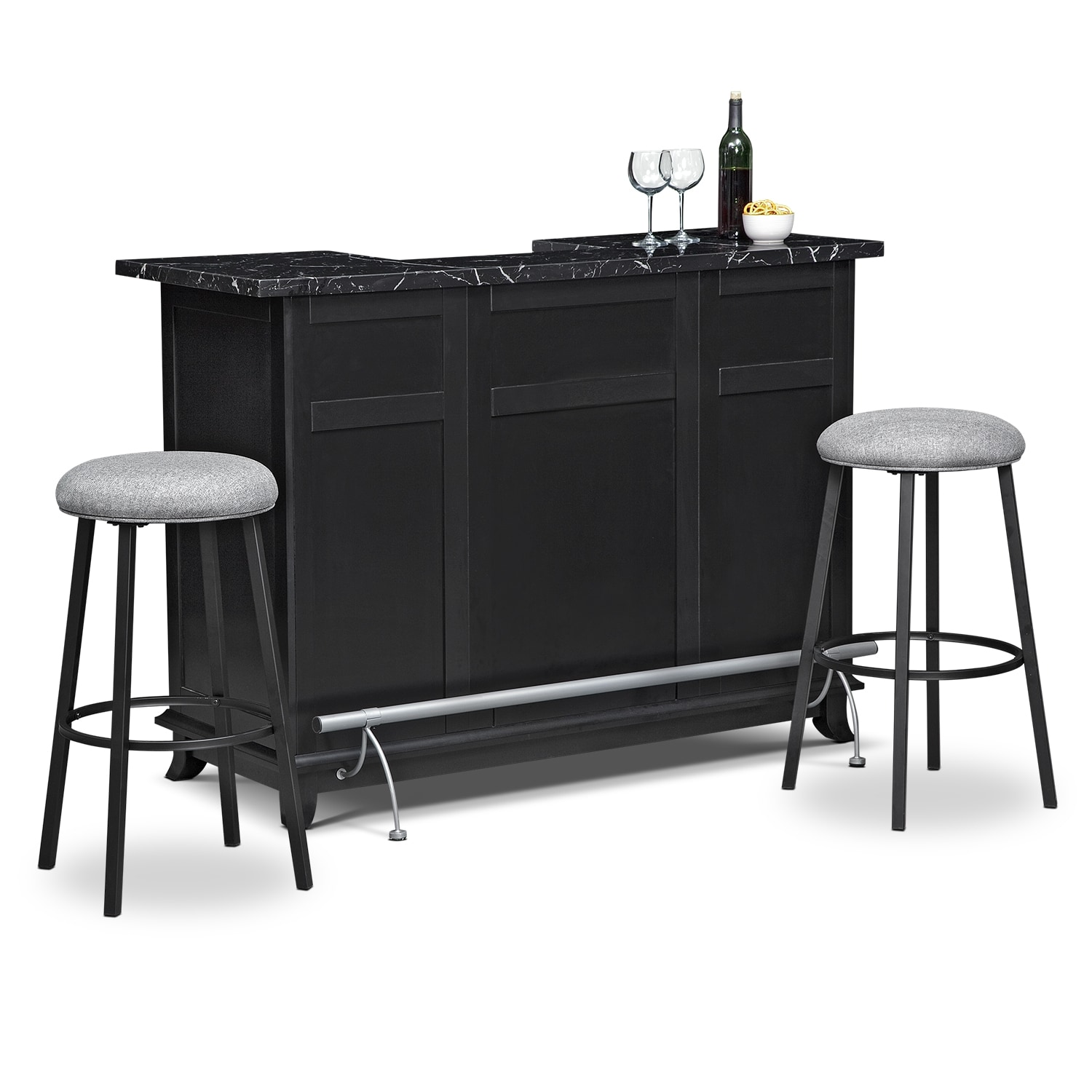 pandora 3 pc bar set value city furniture polyvore