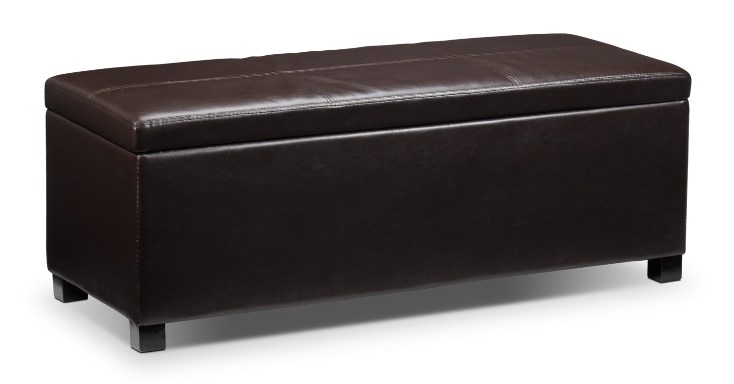 Accent and Occasional Furniture - Paloma 3-Piece Ottoman - Chocolate