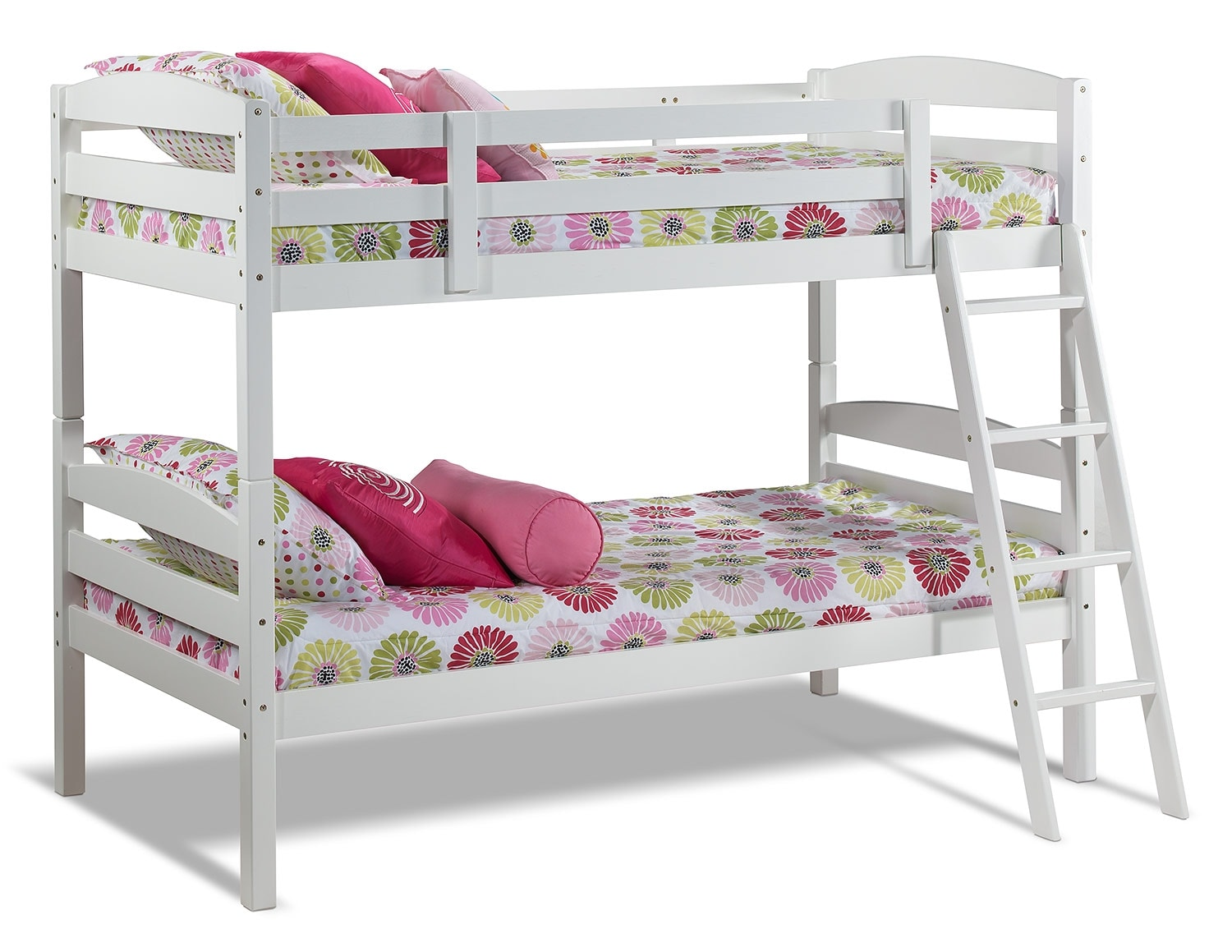 Kids Furniture - Charlie Twin Bunk Bed - White