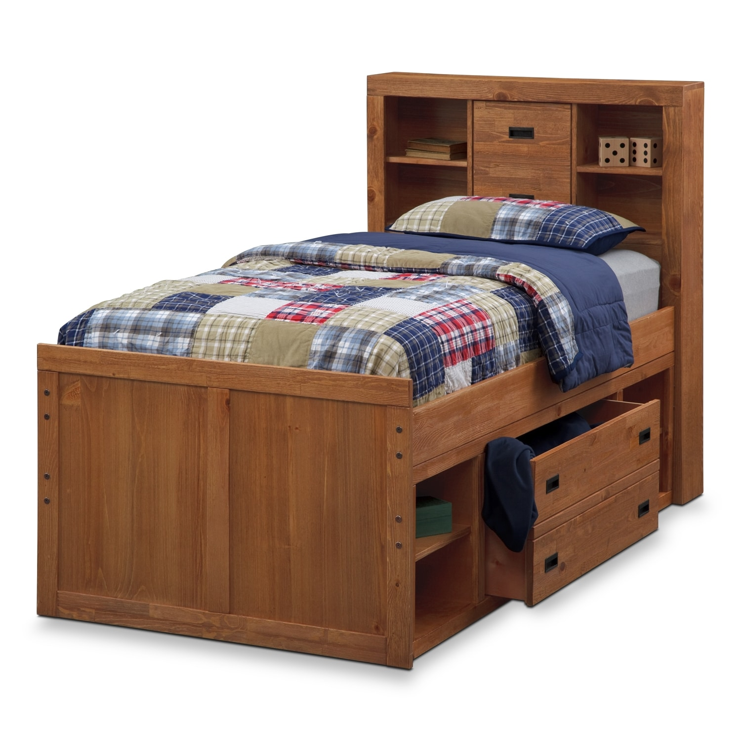 Alpine captain kids furniture full bed value city furniture Captains bed full