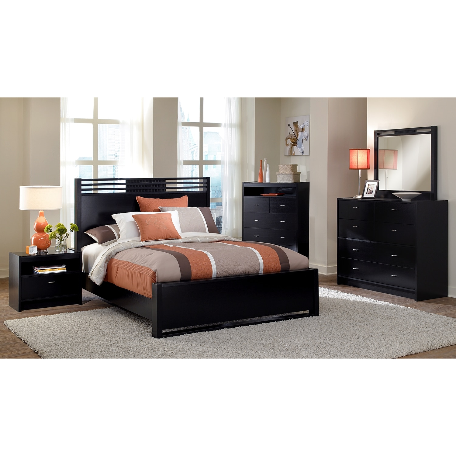 king bedroom set with chest espresso american signature furniture