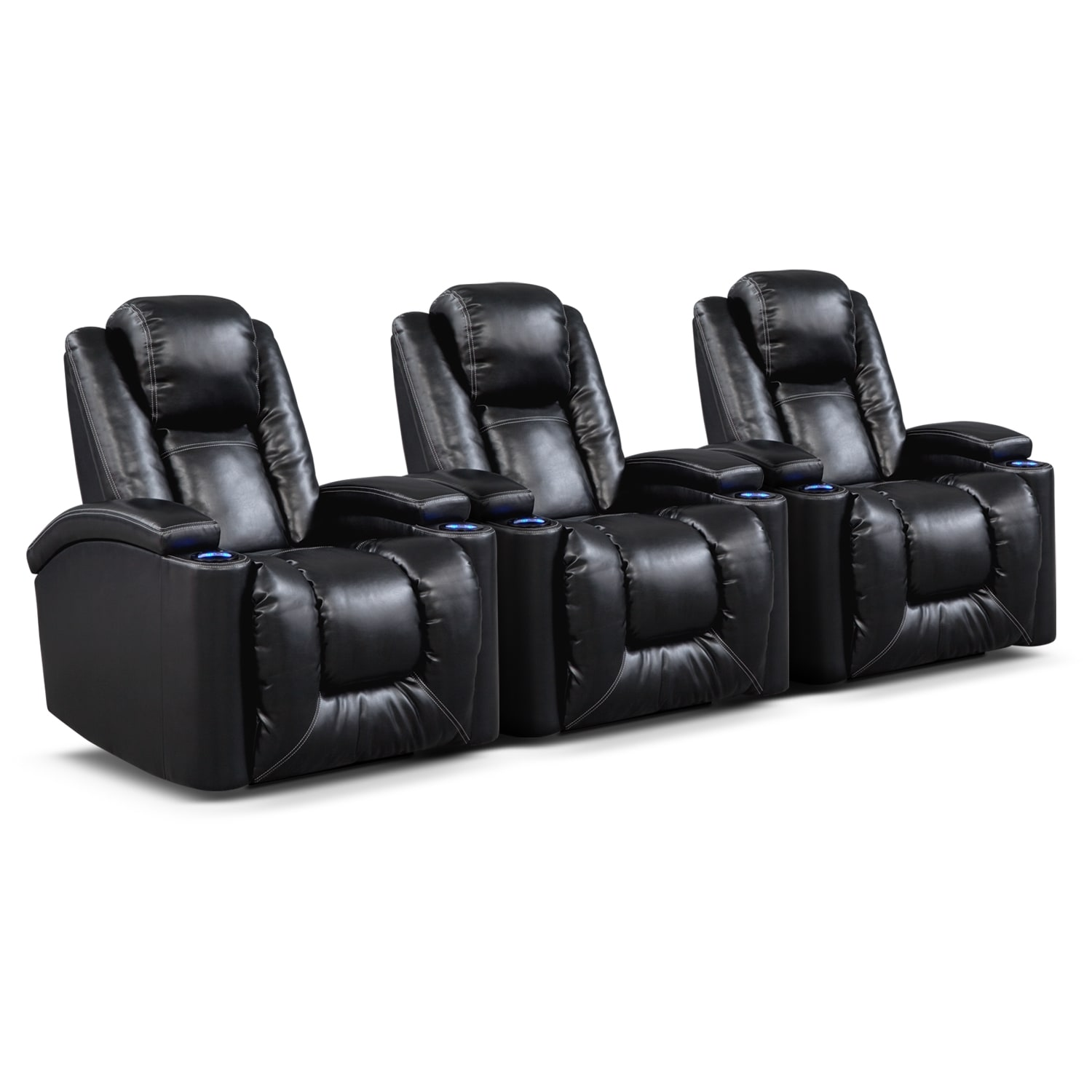 [Polaris II 3 Pc. Power Reclining Home Theater Sectional]