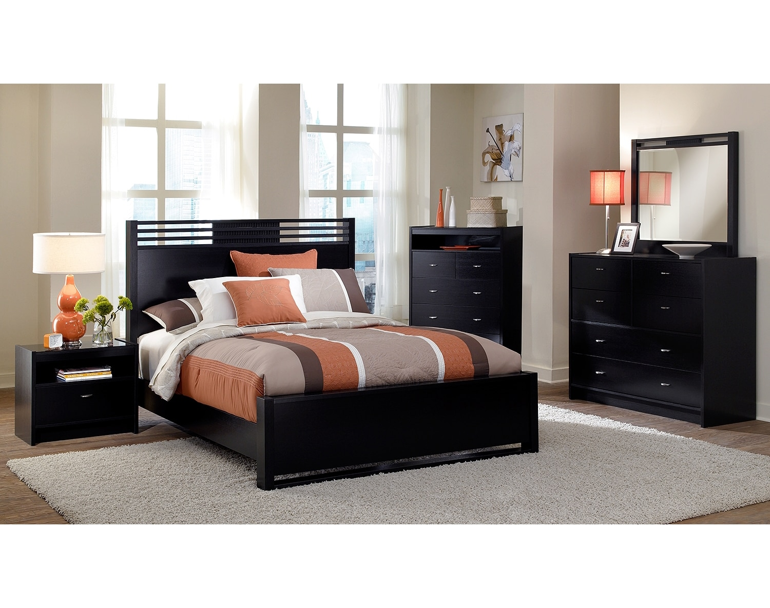 Bedroom Furniture - The Kendall Espresso Collection - Queen Bed