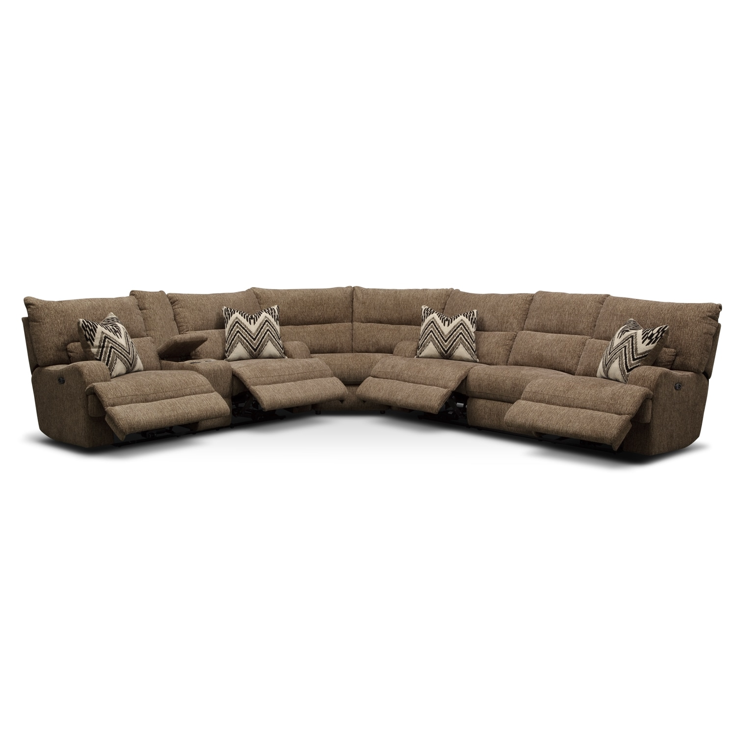 Navarro 3 Pc Power Reclining Sectional Furniturecom