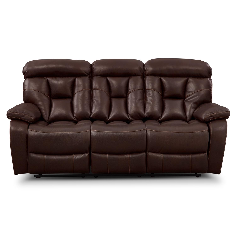 Dakota Reclining Sofa Java American Signature Furniture
