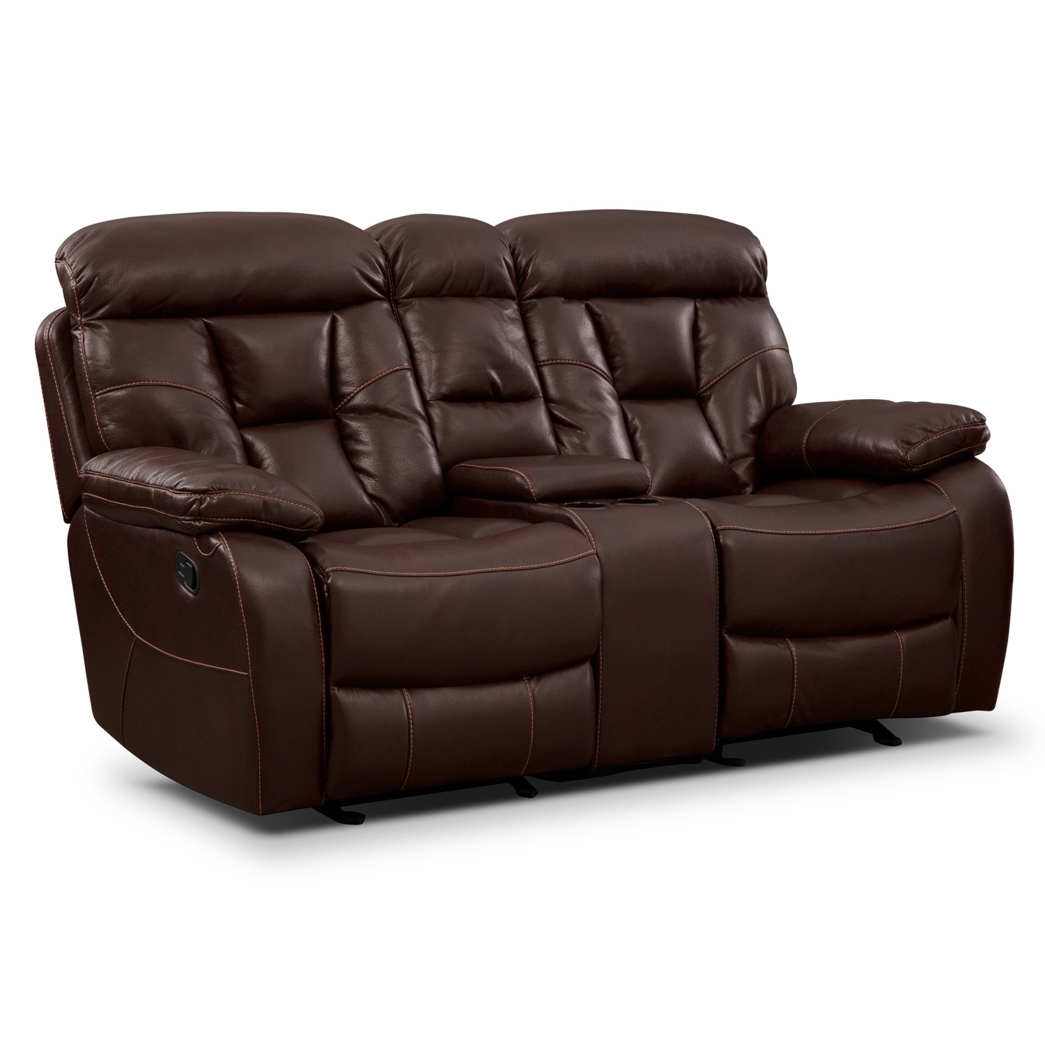 Dakota Glider Reclining Loveseat With Console Value City Furniture