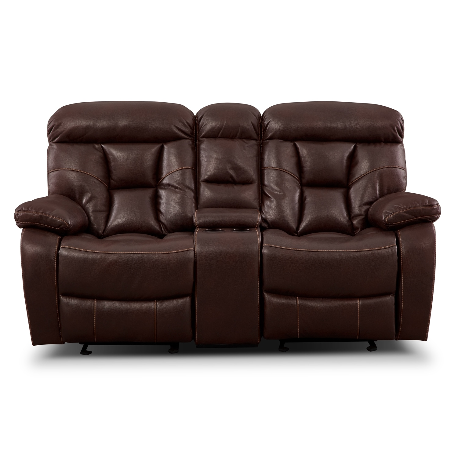 Wichita Java Glider Reclining Loveseat With Console
