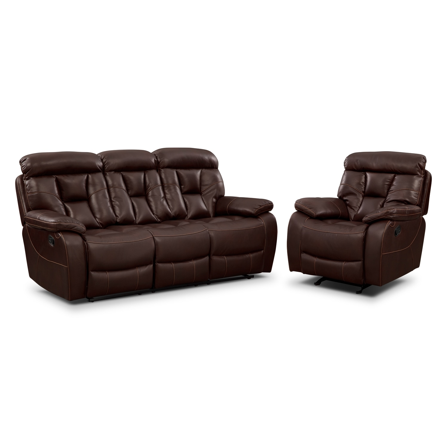 Dakota Gliding Reclining Loveseat With Console Java Value City Furniture