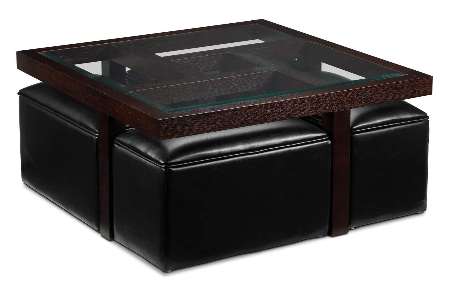 Maze Cocktail Table W 4 Ottomans