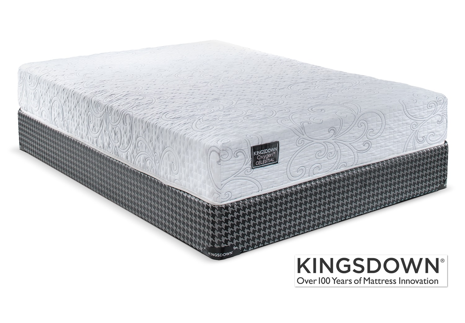Mattresses and Bedding - Kingsdown Celestial Queen Mattress/Boxspring Set