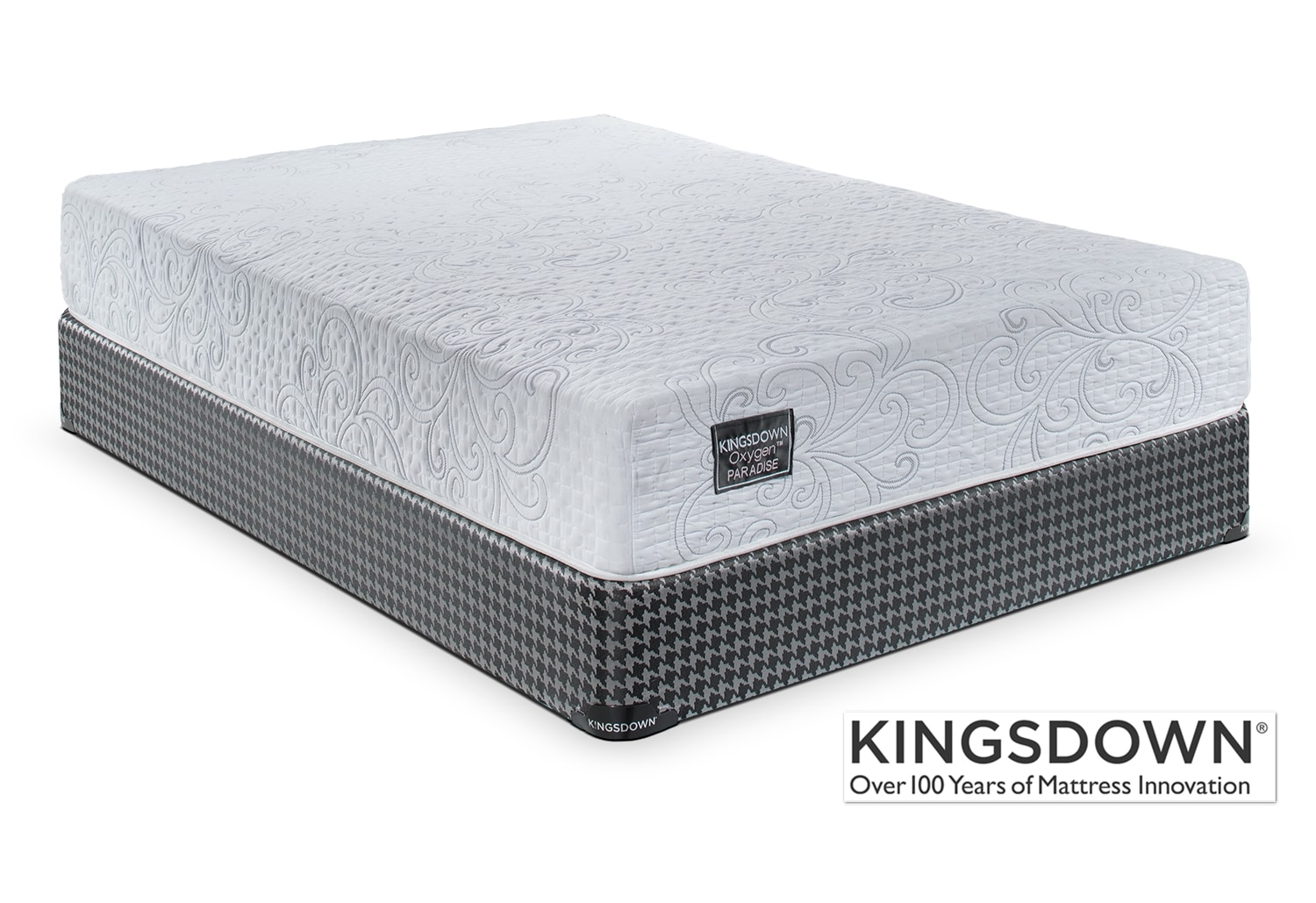 Mattresses and Bedding - Kingsdown Paradise Queen Mattress/Boxspring Set