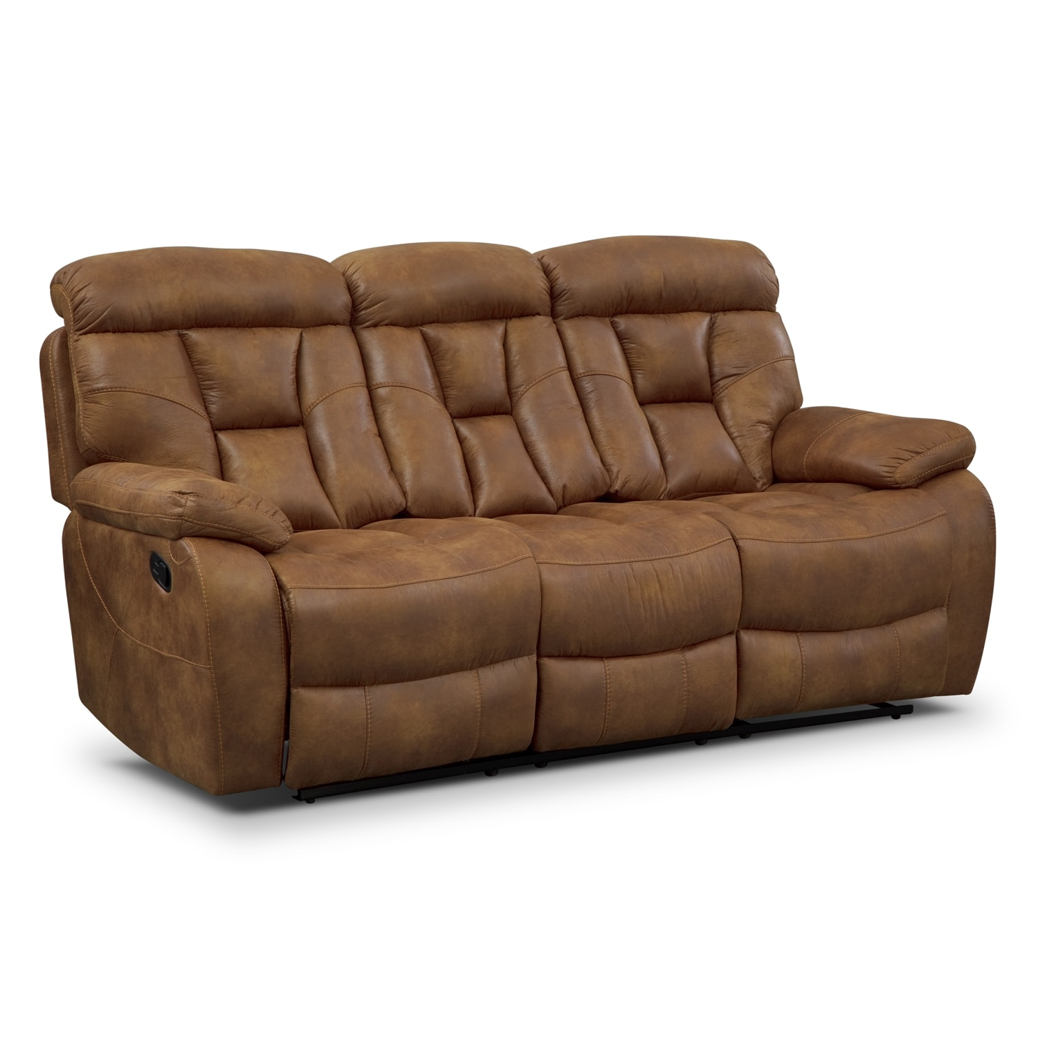 Dakota Reclining Sofa Almond Value City Furniture