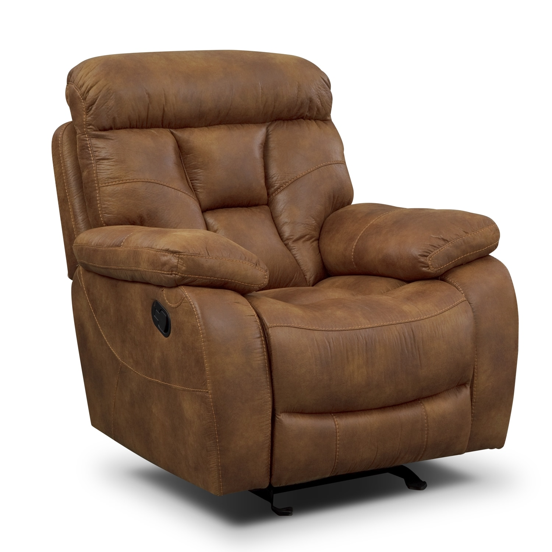 Dakota Reclining Sofa, Gliding Loveseat And Glider Recliner Set - Almond