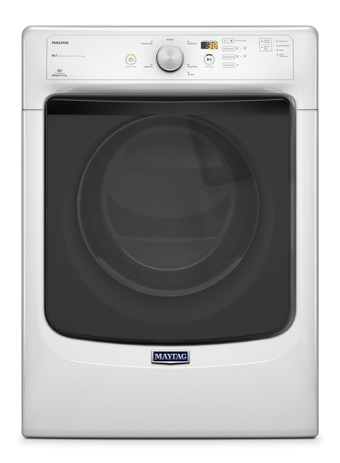 Washers and Dryers - Maytag White Electric Dryer (7.4 Cu. Ft.) - YMED3100DW