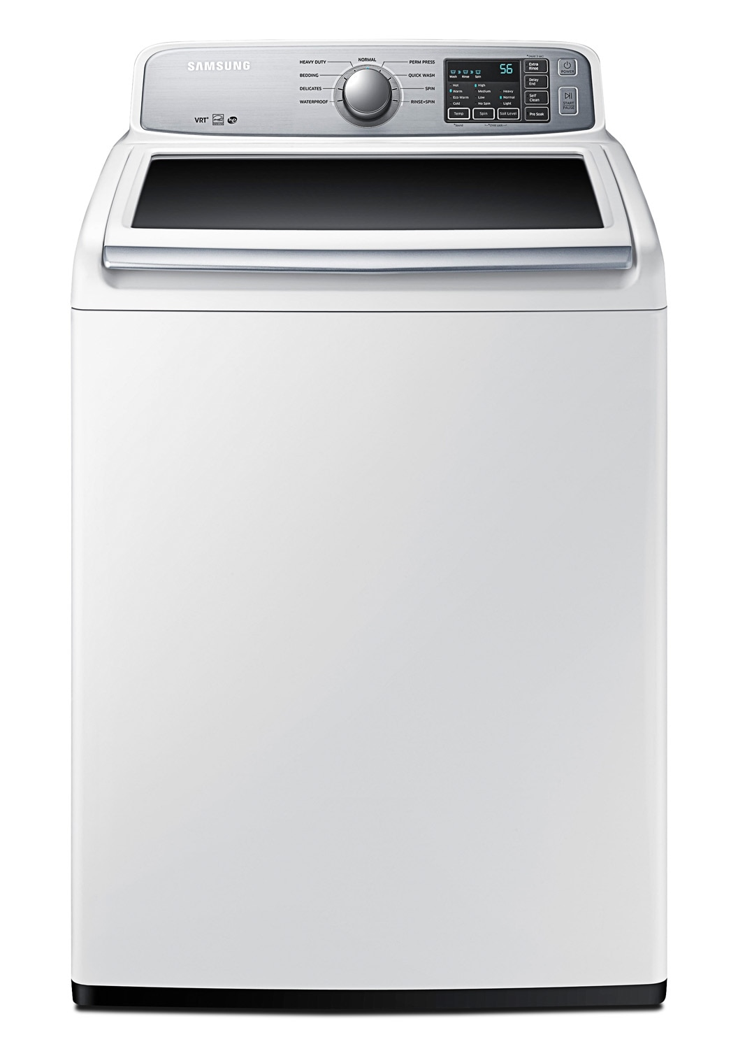Washers and Dryers - Samsung White Top-Load Washer  (5.2 Cu. Ft. IEC) - WA45H7000AW