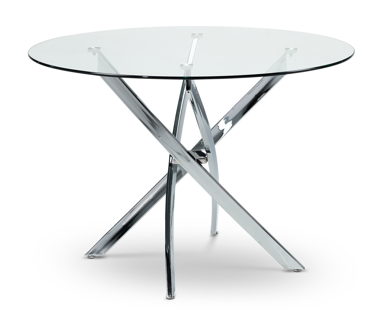 Casual Dining Room Furniture - Kate Table - Clear, Grey