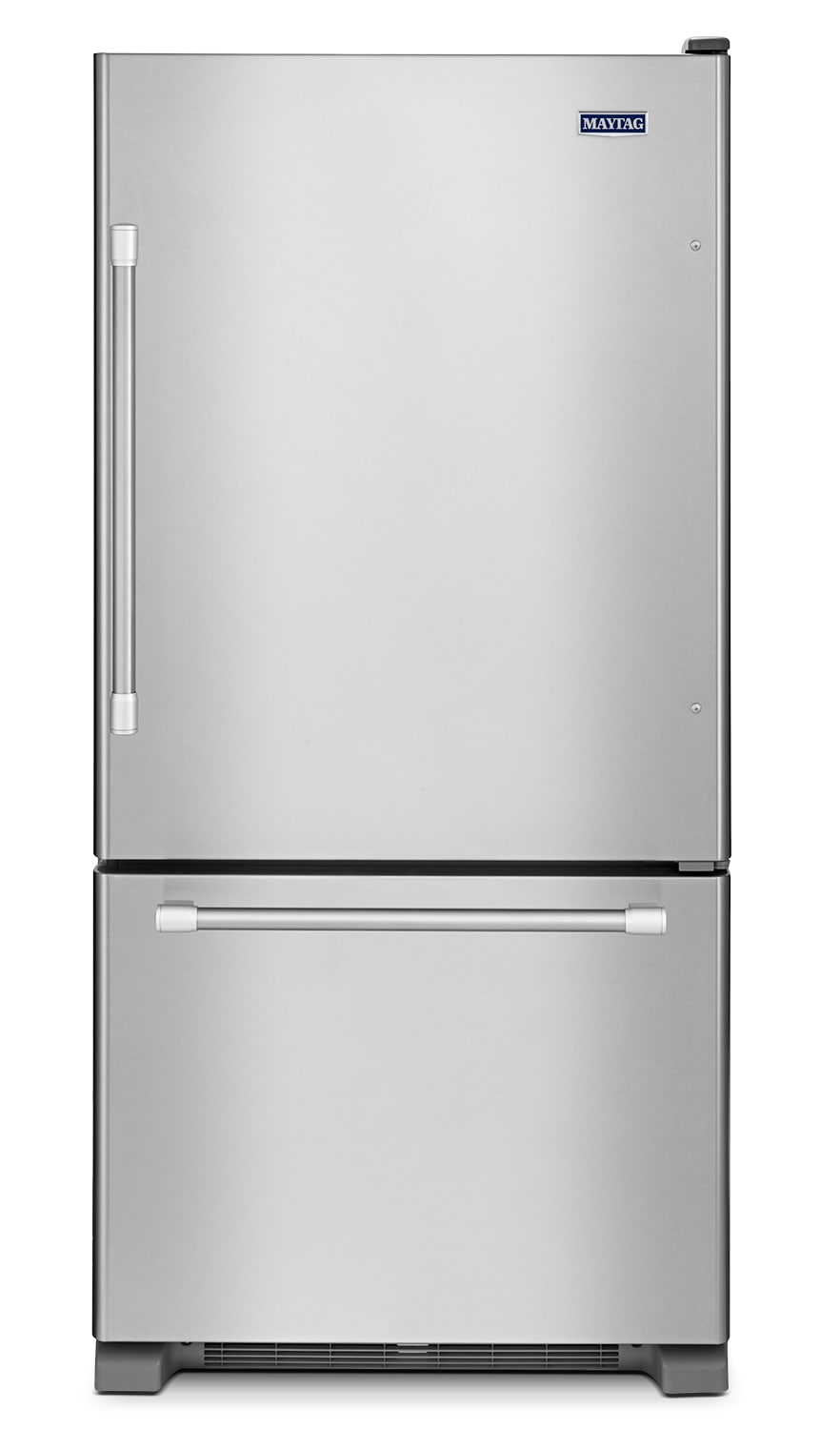 Refrigerators and Freezers - Maytag Stainless Steel Bottom-Freezer Refrigerator (18.5 Cu. Ft.) - MBR1957DEM