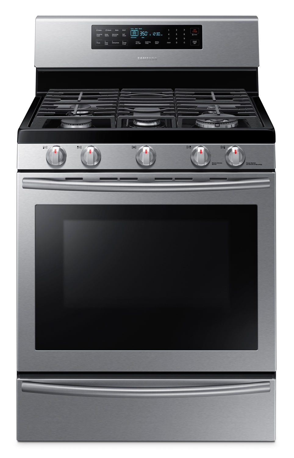Samsung Stainless Steel Freestanding Gas Range (5.8 Cu. Ft.) - NX58H5650WS