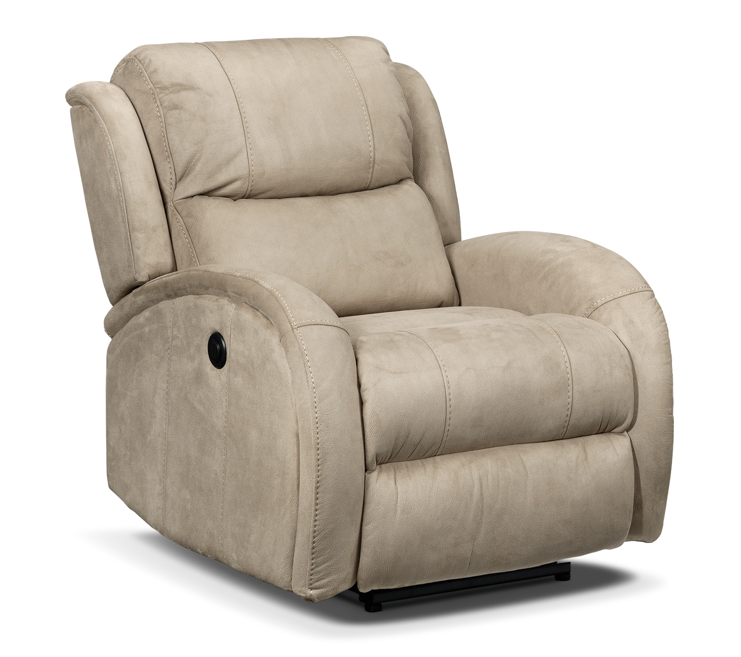Living Room Furniture - DiCarlo Power Recliner - Beige