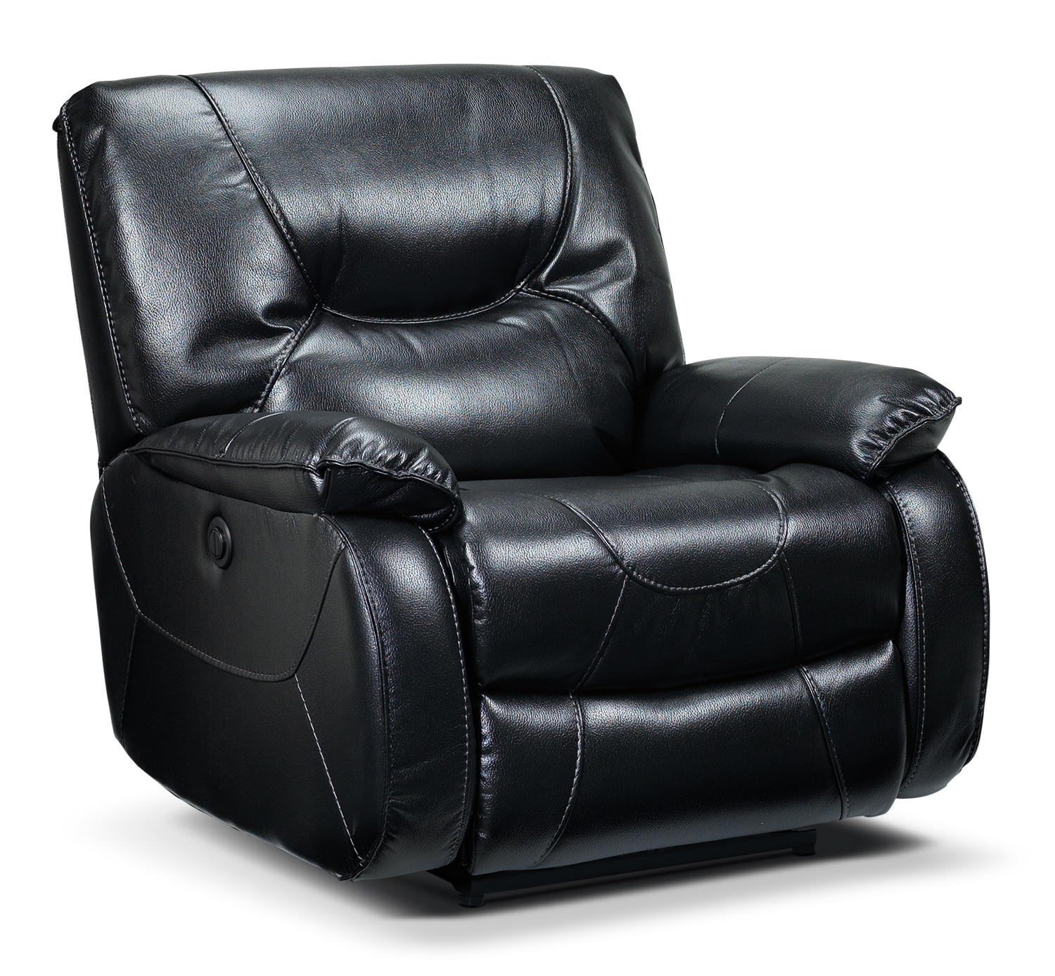 Living Room Furniture - Canton Power Recliner - Black