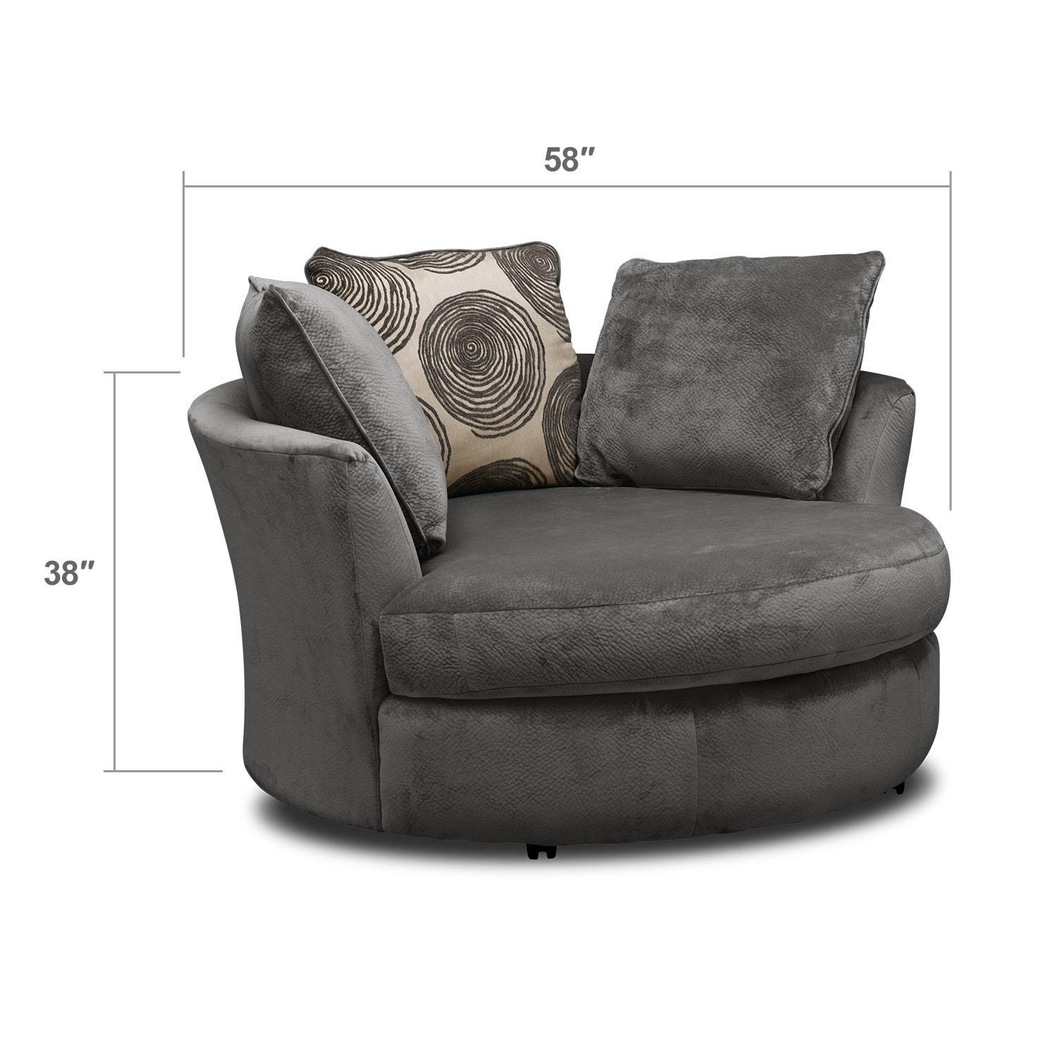 Cordoba Gray Upholstery Swivel Chair Value City Furniture : 309177 from valuecityfurniture.com size 1500 x 1500 jpeg 223kB