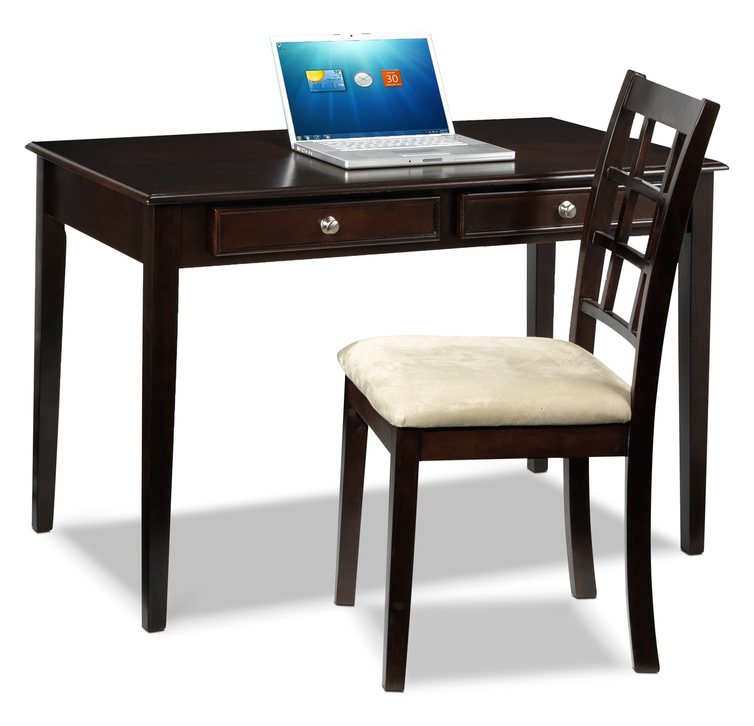 Tyndall Desk and Chair Package - Espresso | Leon's