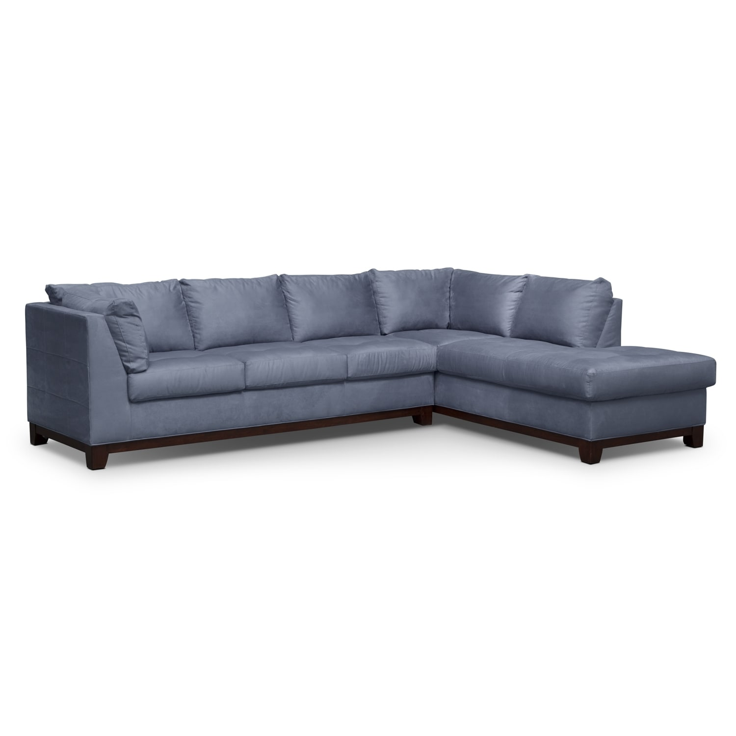 Soho 2 piece sectional with right facing chaise steel for 2 piece sectional sofa with chaise