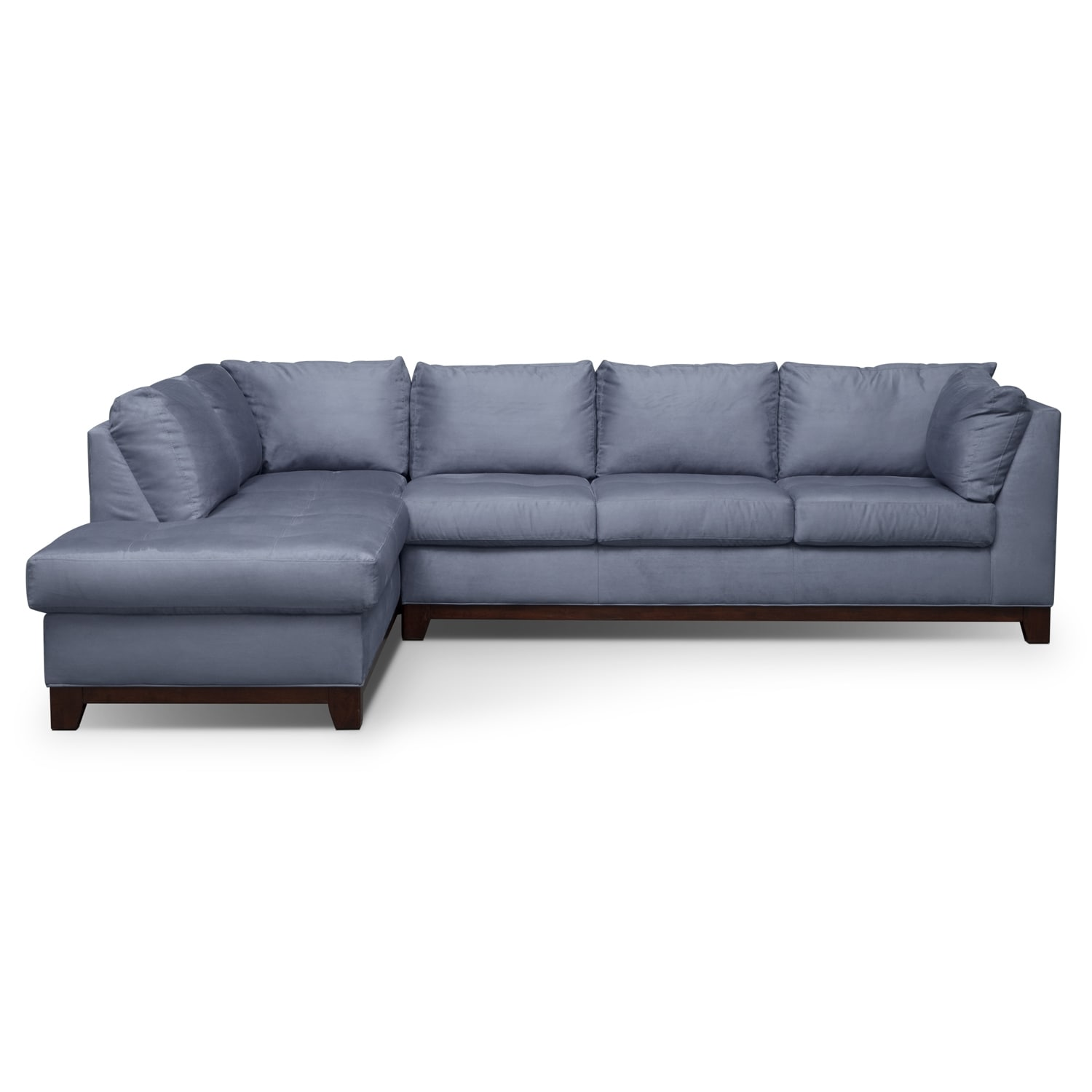 Soho iv 2 pc sectional reverse value city furniture for American signature furniture commercial chaise