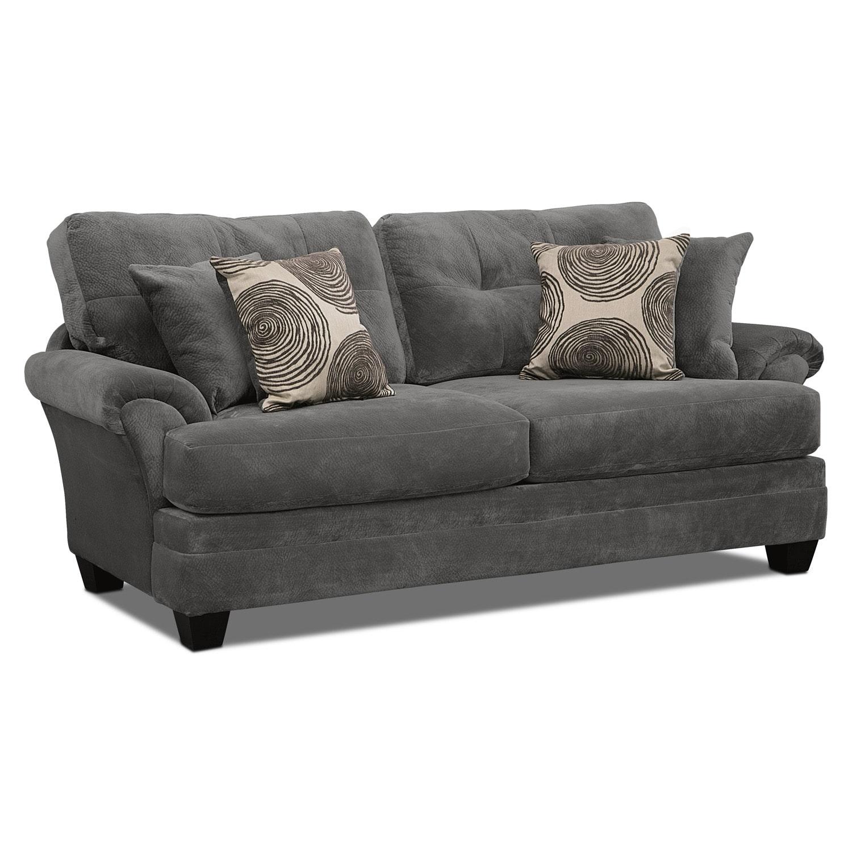 Cordelle sofa gray value city furniture for Sofa upholstery