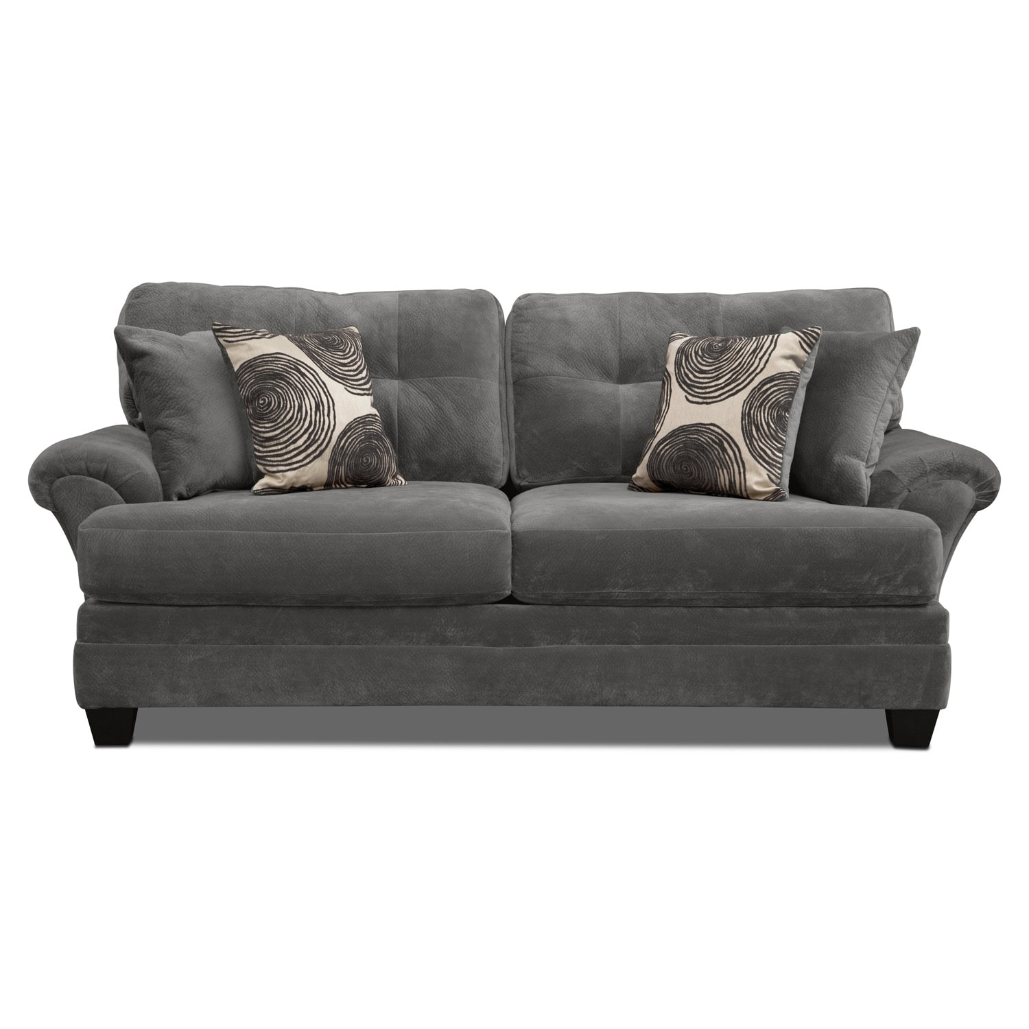 Cordelle sofa gray american signature furniture for American signature couch
