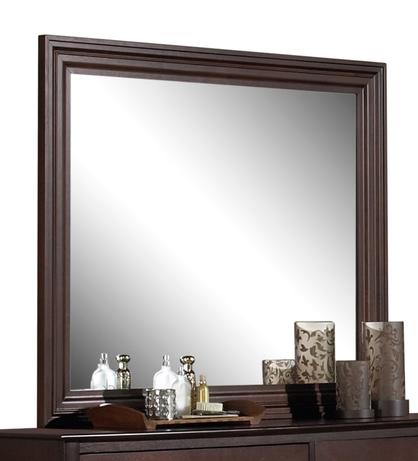 Bedroom Furniture - Manhattan Mirror - Chocolate