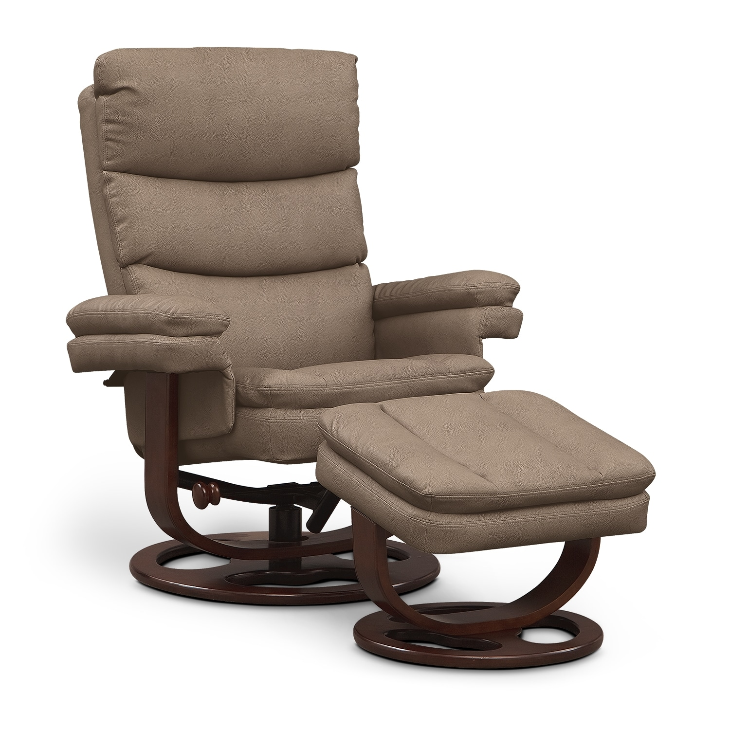 Image Result For Reclining Leather Swivel Chair With Ottoman