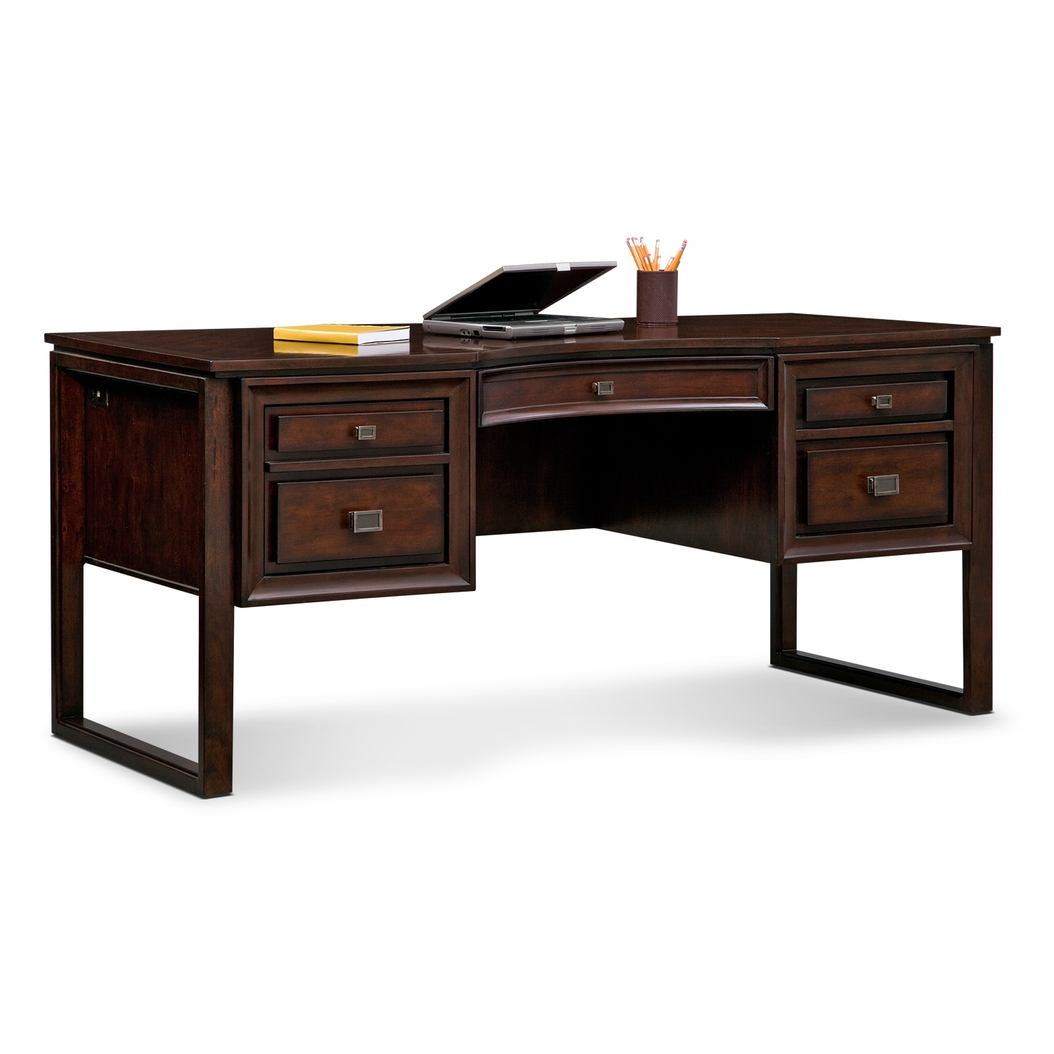 home office furniture medina curved top desk