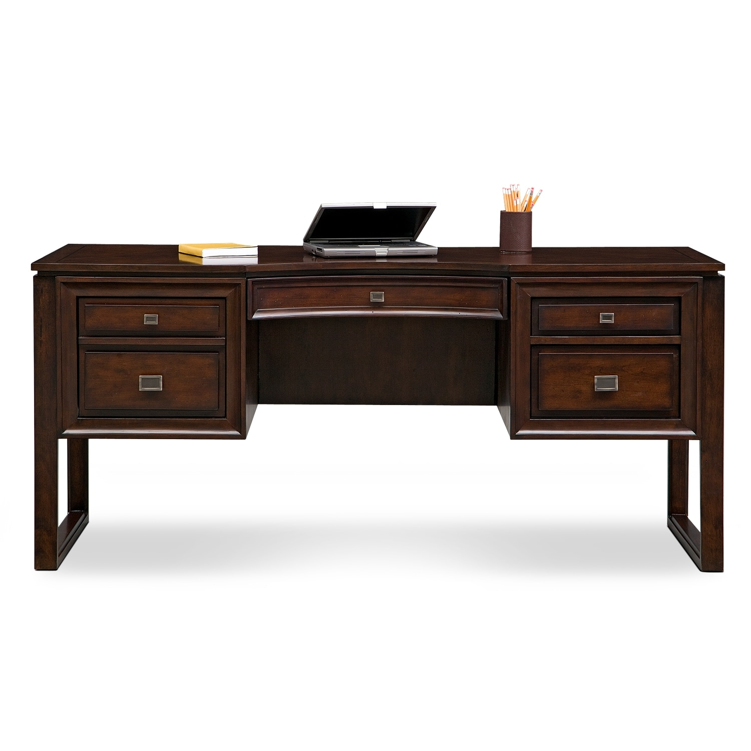 american signature furniture medina home office curved top desk