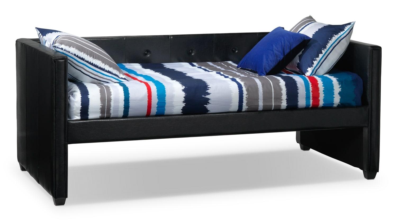 Leons furniture daybeds : Aubrey trundle black leon s