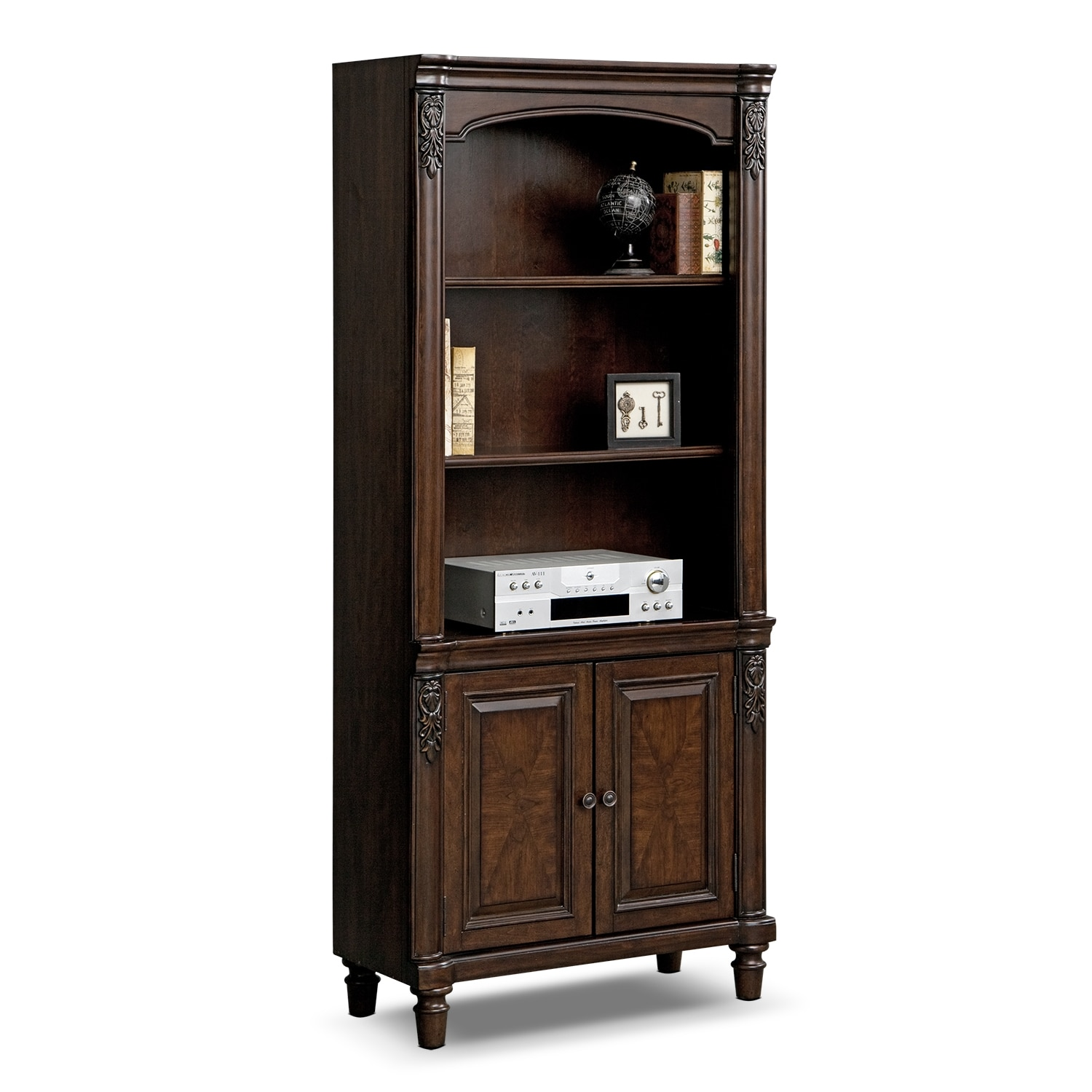 Ashland Door Bookcase Cherry Value City Furniture