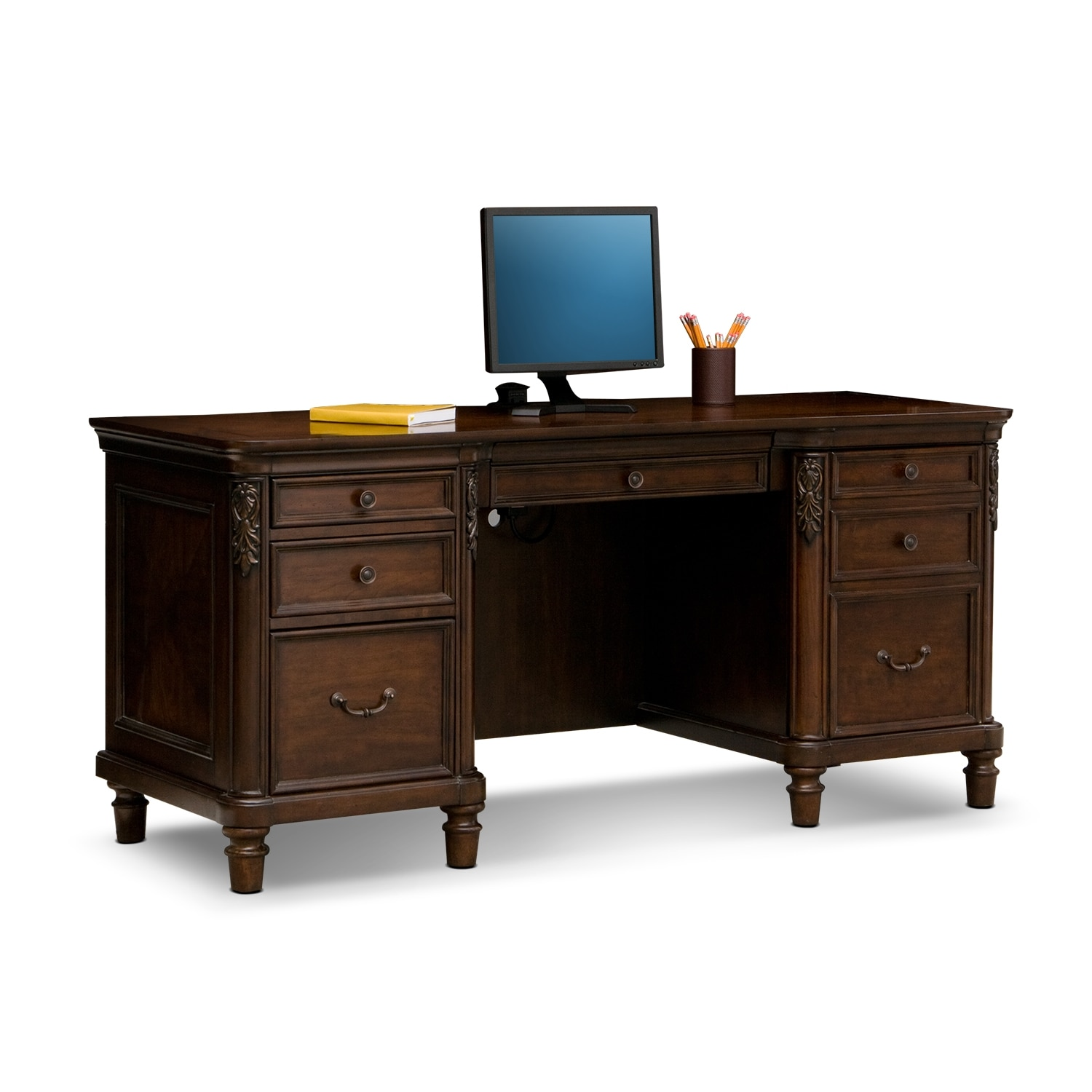 ashland home office credenza desk value city furniture