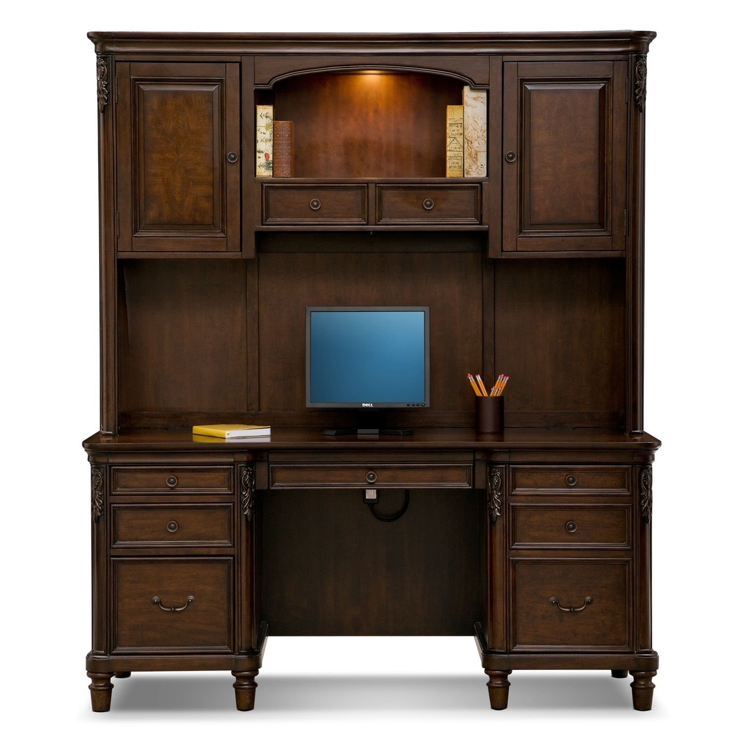 Ashland Credenza Desk With Hutch  Cherry  American. Outdoor Table Runner. Kitchenette Tables. Marvel Refrigerator Drawers Reviews. Cheap Computer Desks For Home. White Dining Room Tables. Build A Desk With Drawers. Black Makeup Desk. Computer Desks With Storage