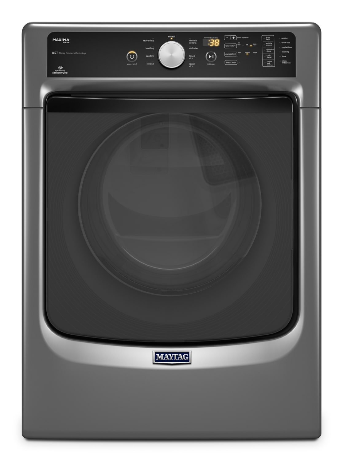 Washers and Dryers - Maytag Metallic Slate Gas Dryer (7.4 Cu. Ft.) - MGD5100DC