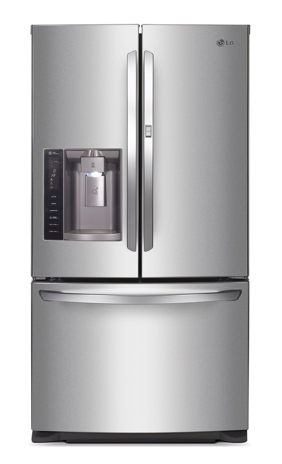 Refrigerators and Freezers - LG Appliances Stainless Steel French Door Refrigerator (26.6 Cu. Ft.) - LFXS27566S